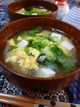 お豆腐とワカメのかきたま汁(味噌汁) by rie-tin 【クックパッド ...