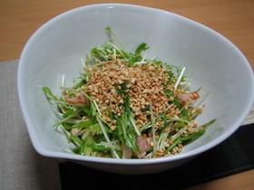 水菜のごまサラダ