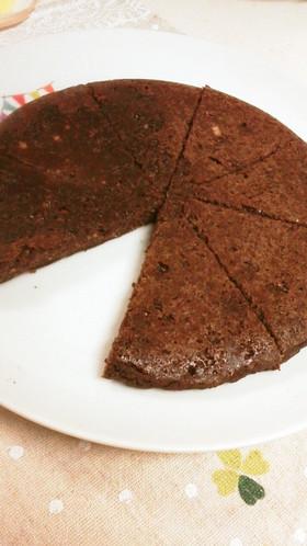 炊飯器で!豆腐と片栗粉のココアパンケーキ