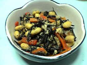 大豆とひじきの味噌煮