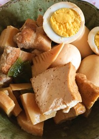 豚バラ肉と厚揚げの煮物