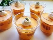 熟した柿5個で 簡単 柿のムースの写真