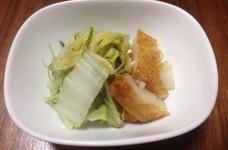 白菜と水菜とさつま揚げのさっと煮♪