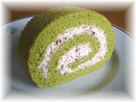 ロールケーキ★抹茶&あずきクリーム
