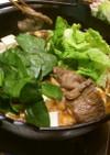つるむらさきのぴり辛味噌牛(猪)鍋