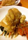 鶏胸肉の野菜巻きソテー