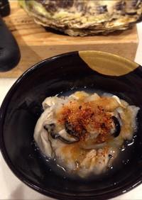 大根おろしで洗う生牡蠣