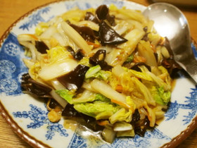 白菜ときくらげの中華風甘酢炒め