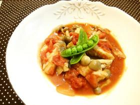 フライパンでタラのトマト煮☆旨みの秘密