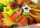お弁当に♪*カニカマと枝豆の彩りピック*