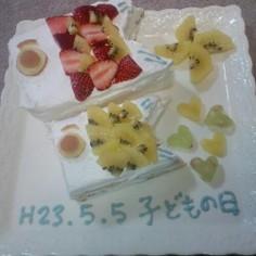 こどもの日☆こいのぼりケーキ♪
