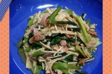 小松菜とベーコンの炒め煮