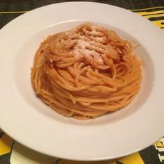 エビの殻で簡単本格トマトクリームパスタ