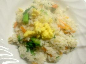 菜の花といり卵の混ぜご飯