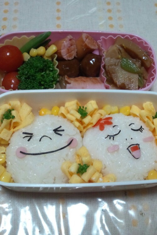 LINE ムーン  キャラ弁当(*≧∀≦