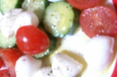 カプレーゼ^^トマト、モッツァレラ、胡瓜
