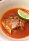 鯛の塩焼きの残りで!トマトハーブスープ