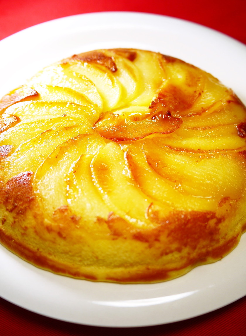Xmas☆フライパンHM林檎チーズケーキ