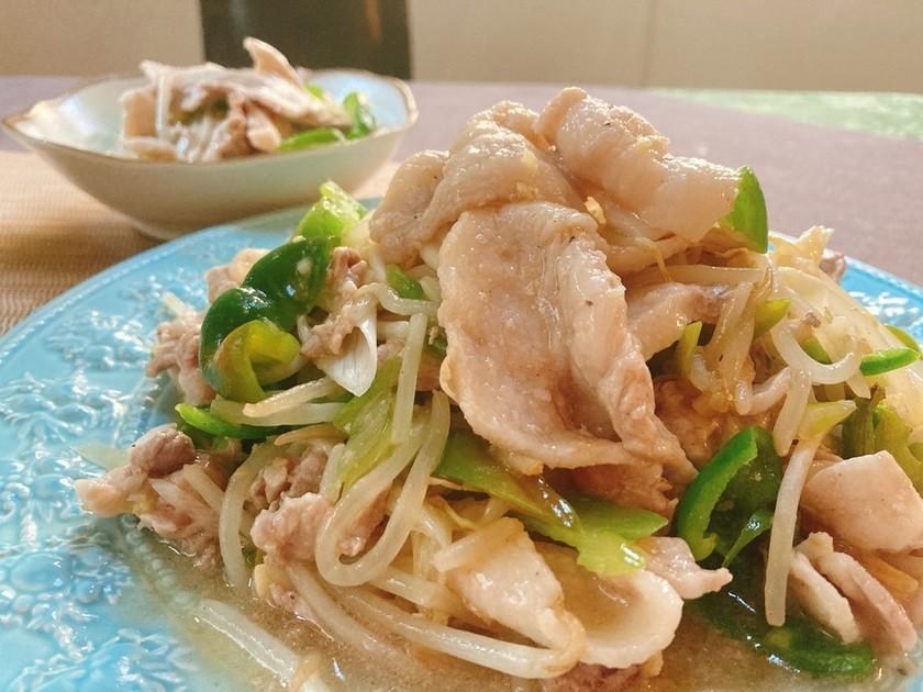 簡単☆野菜たっぷり!豚バラの葱塩炒め
