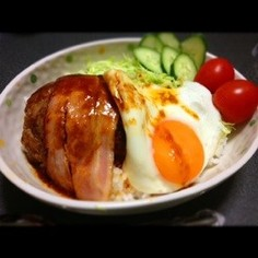 ロコモコ丼(´ . .̫ . `)♡