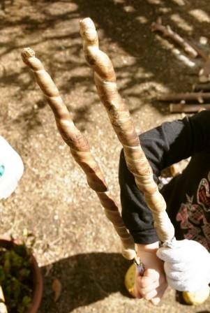 ふんわり木の棒パン