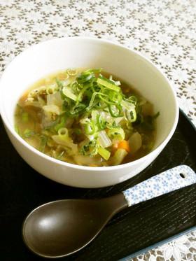 具だくさん生姜スープ