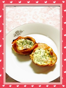お弁当 に☆野菜のベーコンカップ焼き☆