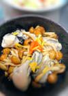 牡蠣とナメコの紅葉おろし和え