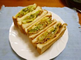 絶品★キャベツ×ベーコンのサンドイッチ♪