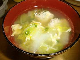簡単☆白菜と鶏肉団子のスープ