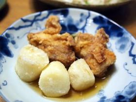 鶏と長芋の揚げだし