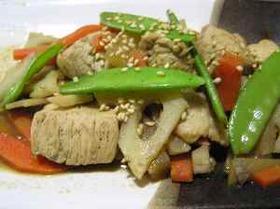 根野菜の甘味噌炒め