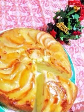 簡単!炊飯器で林檎のケーキ♥︎