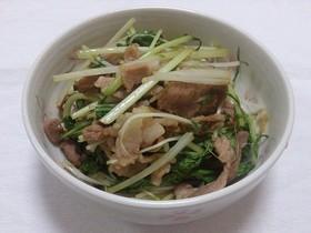 豚肉と水菜の煮物