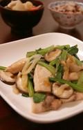 Caたっぷり♬メカジキと小松菜の炒め物