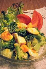 美味!ブロッコリーと卵のマヨ醤油サラダの写真