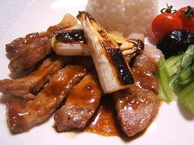 豚肉の味噌だれステーキ