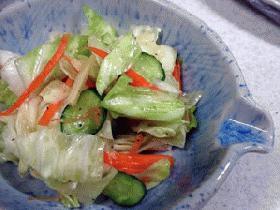 野菜の即席漬けショウガ風味