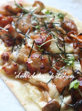 照り焼きチキンの和風ピザ