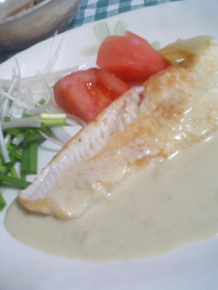 白身魚のソテー★牡蠣ソース添え