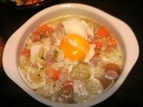 温泉卵入り 洋風スープご飯
