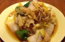 豚バラと白菜のおろしポン酢炒め