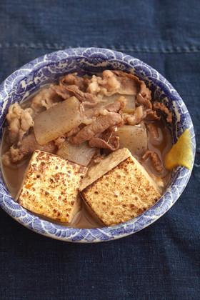 牛肉と焼き豆腐の煮物