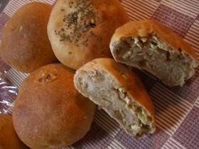 HBでクリームチーズ&くるみパン