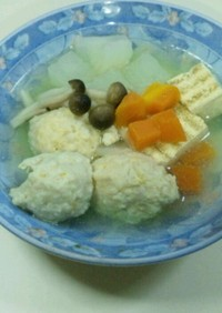 柚子香る鶏つみれ団子