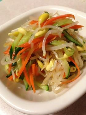 豆もやしと細切り野菜のナムル