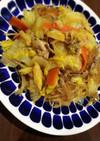白菜と春雨のオイスター野菜炒め