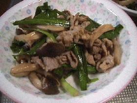 豚肉とニラのマヨネーズ炒め