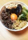 焼肉のタレde牛肉すき焼き風丼