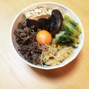 焼肉のタレde牛肉すき焼き風丼の写真